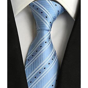 New Classic 100% Silk Men's Ties Neckties 8cm Plaid Striped Ties