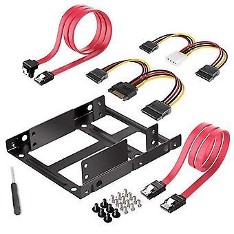 المزدوج SSD / hdd تصاعد قوس 3.5 إلى 2.5 الداخلية القرص الصلب محرك أقراص الكابلات