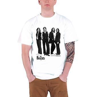 Beatles T skjorte står ikoniske bildet bandets logo offisielle Mens White