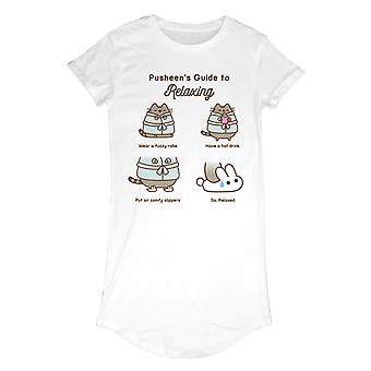 Ladies Pusheen Guide To Relaxing Dress Style Official T-Shirt