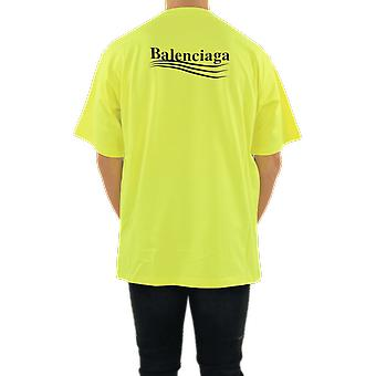 Balenciaga Large Fit T-Shirt Yellow 641675TJVF77110 Top
