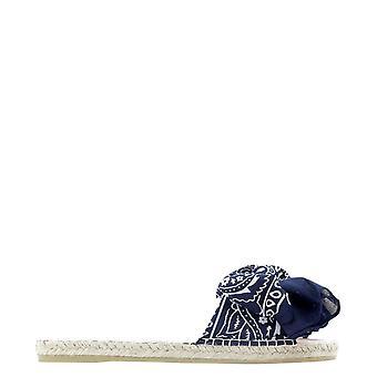 Manebí F96j0 Women's Blue Cotton Sandals