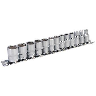 "Sealey AK2705 Socket Set Walldrive 13pc 1/4""sq Drive Metric"