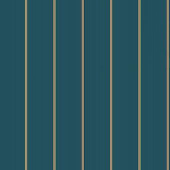 Cabaret Stripe Teal Wallpaper