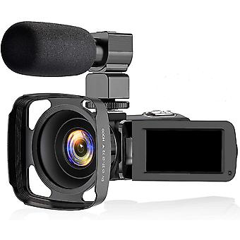 """Videokamerakamera, 2,7 K Ultra HD 3,0"""" LCD-skærm"""