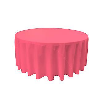 La Leinen Polyester Poplin Tischdecke 120-Zoll rund, Hot Pink