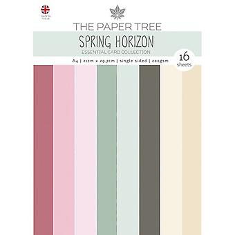The Paper Tree - Spring Horizon Collection - A4 - Essential Colour Card