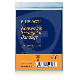 Blue Dot Non-Woven Triangular Bandage