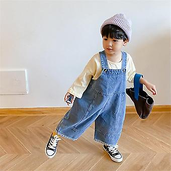 Children Loose Overalls Casual All-match Denim Trouser