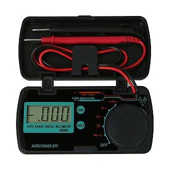 Em3082 mini digital multimeter ac dc volt amp ohm lcd voltmeter auto slå av data