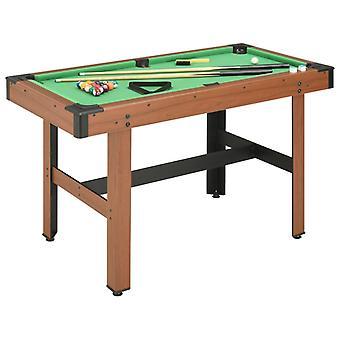 Table de billard 4 pieds 122x61x76 Cm Brun