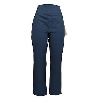 Vrouwen met Control Women's Petite Pants SMOOTH & SLEEK Slim Leg Blue A391212