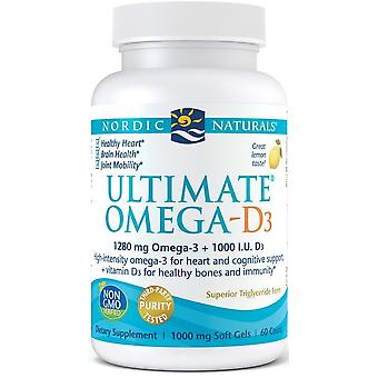 Nordic Naturals Ultimate Omega D3 1000 mg Lemon 60 Solfgels