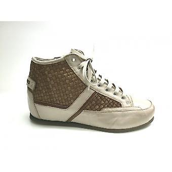 Women's Shoes Galizio Torresi Sneaker Wedge Beige Leather Intr. Hazelnut Ds15gt02