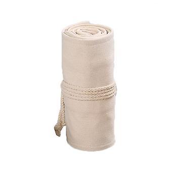 12/24/36/48/72 Holes Canvas Roll Up Pen Curtain Pencil Bag Case Makeup Wrap