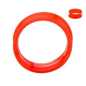 Super ohut silikoni kaksinkertainen leventyneet tunnelit - myydään pareittain - 6 väriä saatavilla