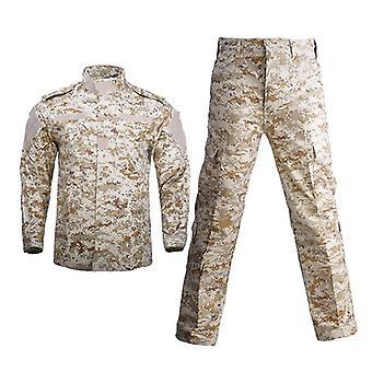 Miehet Armeija Armeijan Yhtenäinen Taktinen Puku Taistelupaita Takki Pant Set