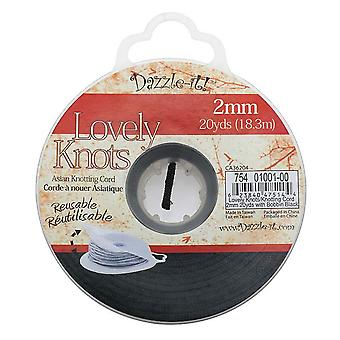 Lovely Knots - Chinese Knotting Cord 2mm Thick - Black (20 Yards On Bobbin)