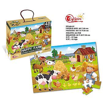 Lasten 48-osainen palapeli lelu 3-6 vuotta vanha eläin palapeli