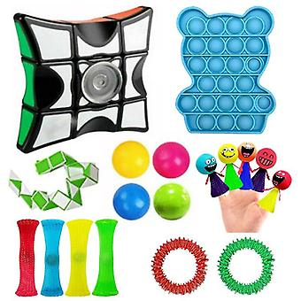 18pcs Pack Fidget Toys Sensory Toy Set Antistress Relief Fidget Toys