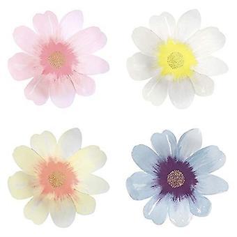 Meri Meri Garden Party Flower Paper Party Assiettes x 8