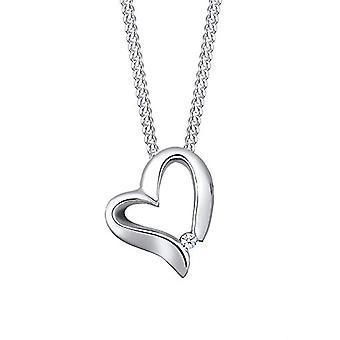 Elli PREMIUM kaulakoru Herz Romantisch Diamant (0.015 ct.) 925 Silber