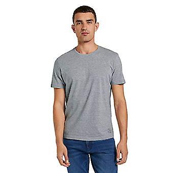Tom Tailor 1008638 2-Pack T-Shirt, 11087 Middle Grey melange, S Man