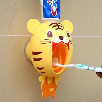 Cartoon Toothbrush Holder Automatic Toothpaste Dispenser Holder Mount Rack |Toothbrush Holders