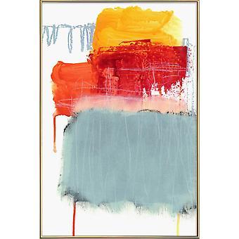 JUNIQE Print - Gelaagde kleur 2 - Abstracte en geometrische poster in kleurrijk
