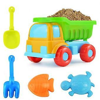 Kids Beach Truck Shovel Rake, Animal Molds Kit, Garden Sandpit Pool Toy