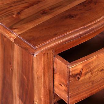 vidaXL nachtkastje set met lades 2 stuks gemaakt van massief acacia hout