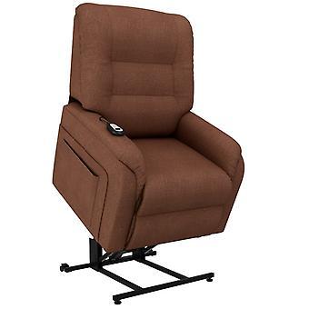 fotel vidaXL TV ze stand-upem Electric Brown fabric