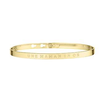 Een MAMAN IN OR-apos; Golden Jonc boodschap armband