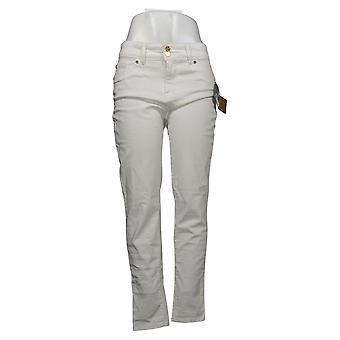 Global Chic By Iman Women's Jeans 360 Slim Skinny White 685778UCU