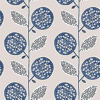 Tempo Leaf Blue Wallpaper