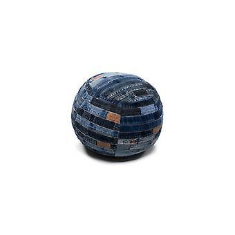 D-merkki Istuin puff 1K0189 Denim sininen 40x40cm