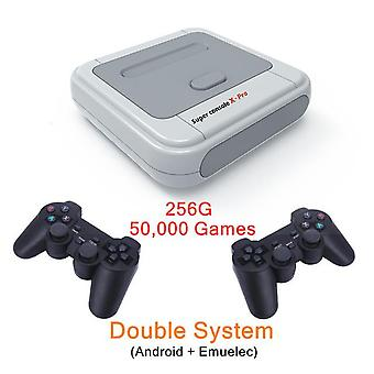 Super console x pro video game consoles for psp ps1 n64 build-in 50+ emulators 50000 games amlogic s905x tv box with dual system