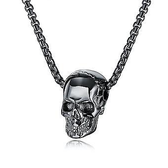 Women Necklace Men Skull Halloween Black Titanium Steel Pendant For Festival