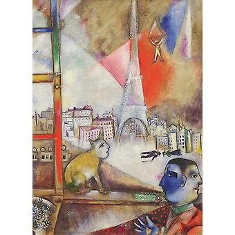Eurographics Paris à travers la fenêtre, Puzzle Chagall (1000 Pièces)
