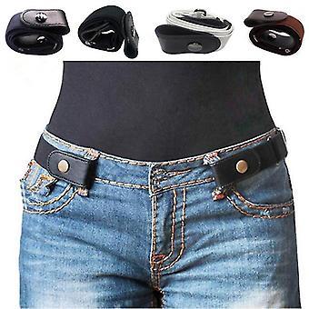 Buckle-Free Belt For Jean Pants Dresses No Buckle Stretch Elastic Waist Belt For Women Men No Bulge