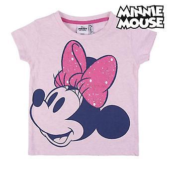 Kurzarm-T-Shirt für Kinder Minnie Mouse Pink