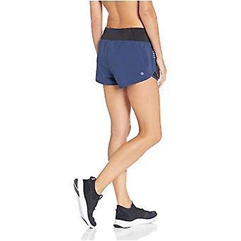 """Marca - Core 10 Mujer Estándar Cintura de Punto Run Short Brief Liner - 2.5"""", Navy, XS (0-2)"""