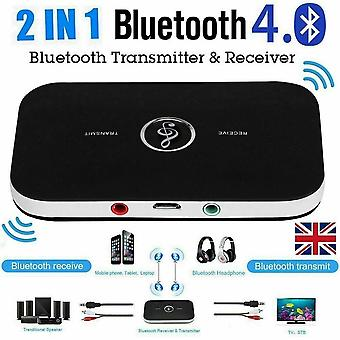 Bluetooth Wireless Audio Transmitter Receiver HiFi Music Adapter AUX RCA 2 in 1