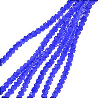 Crystal Beads, Faceted Rondelle 1.5x2.5mm, 2 Strands, Opaque Dark Sapphire