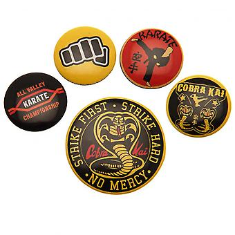 Cobra Kai Button Badge Set Official Licensed Product