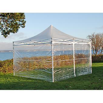 Vouwtent/Easy up tent FleXtents PRO 3x3m Doorzichtig, inkl. 4 Zijwanden
