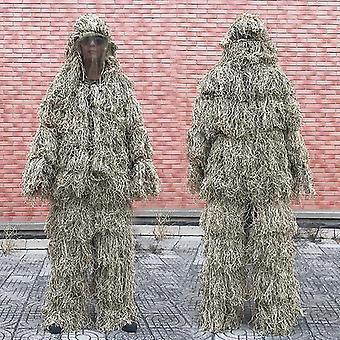 3d zvaděný tráva Ghillie oblek-kamufláž oblečení
