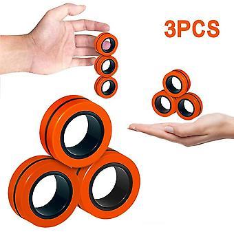 Anti-stress magnetic rings fidget unzip toy magic ring props tools children adult toys