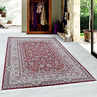 Klassisches Orient Muster Kurzflor Teppich Rot
