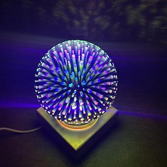 Bois moderne Coloré 3d Night Lights Magic Projector Ball Light Usb Power Supply Chambre Atmosphère Night Lamps Sky Table Lights